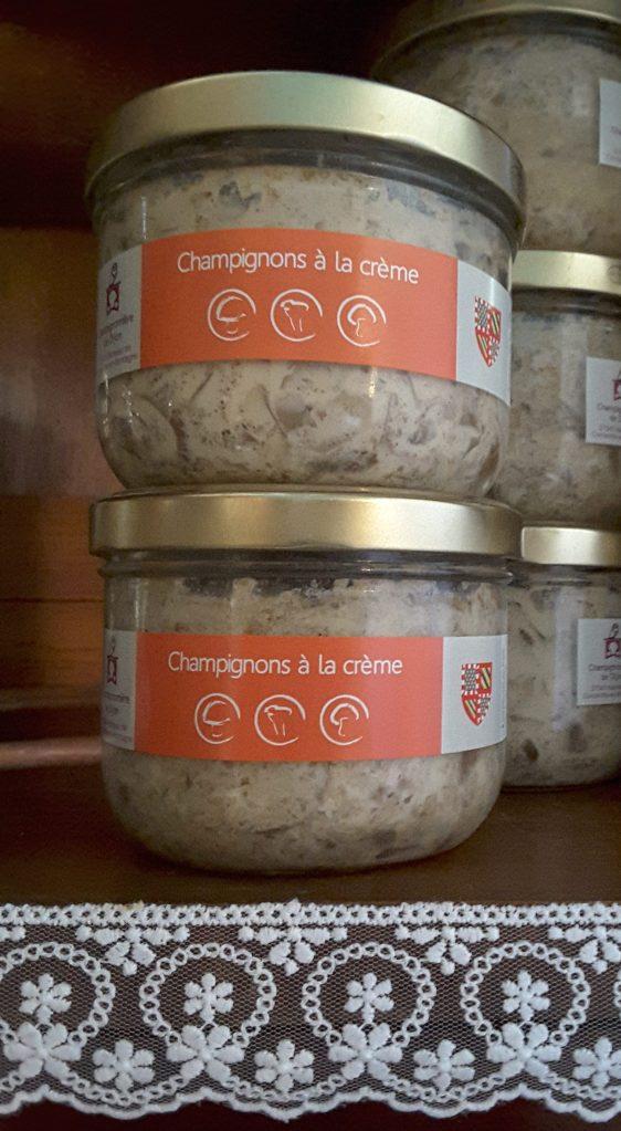 champignons à la crème conserves